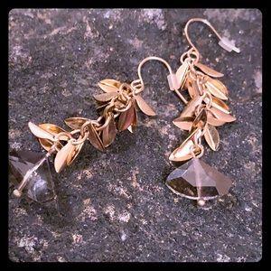 C+I vintage Antique Gold earrings